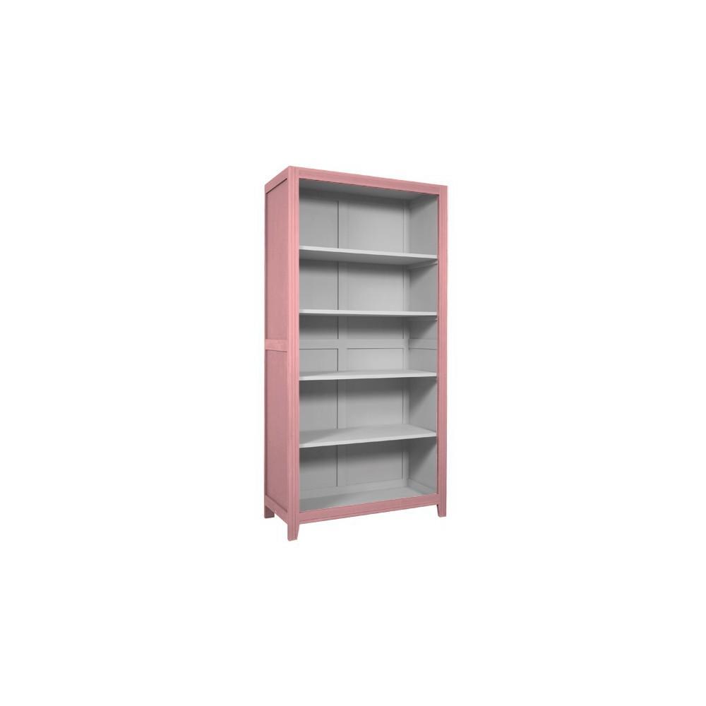 Biblioth Que Parisienne Vieux Rose Gris Clair Laurette Design # Bibliotheque Bois Clair