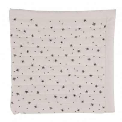 Polder Girl Ecru Quilted Plaid - Grey Stars-listing