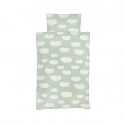 Ferm Living Kids Clouds bed linen set - mint green - 100x140 cm-listing