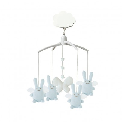 Trousselier Mobile musical Ange Lapin bleu-listing