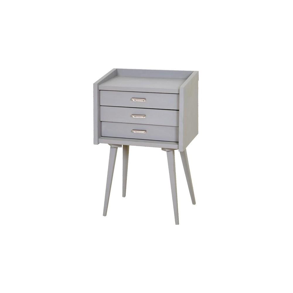 secrets bedside table grey laurette design teen children. Black Bedroom Furniture Sets. Home Design Ideas