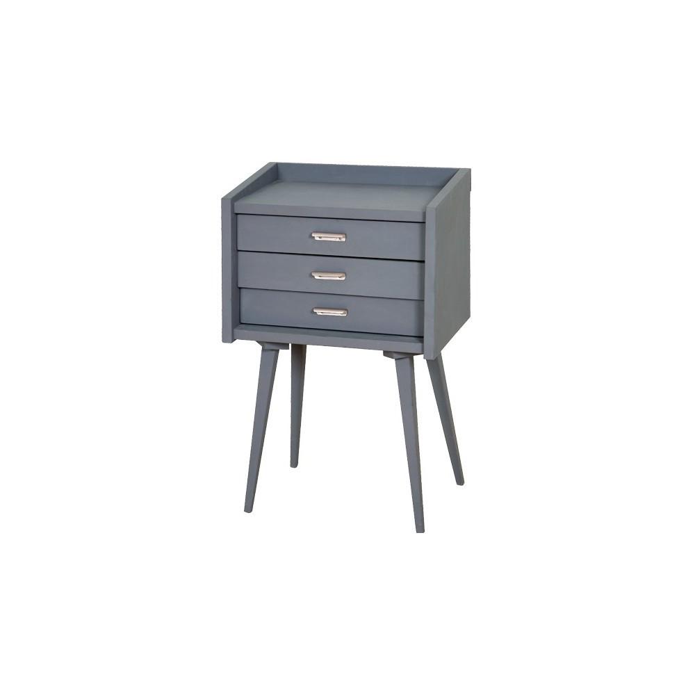 secrets bedside table dark grey mid grey laurette design. Black Bedroom Furniture Sets. Home Design Ideas