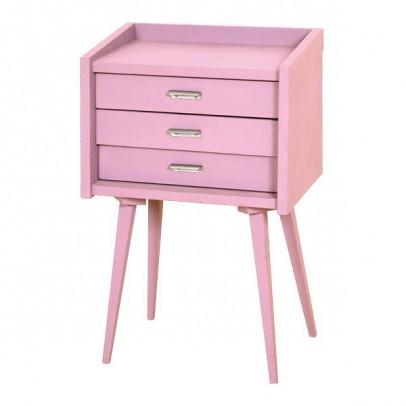 lit mm pieds bois naturel blanc laurette design enfant. Black Bedroom Furniture Sets. Home Design Ideas