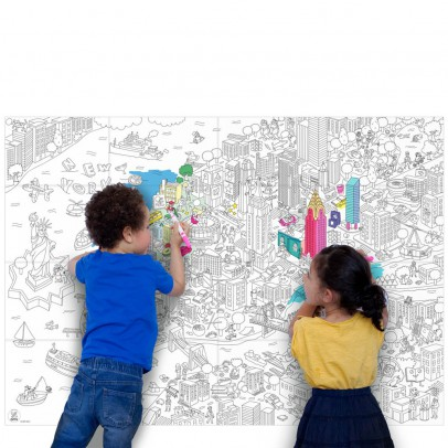 Omy Giant New York Colouring-in Poster-listing