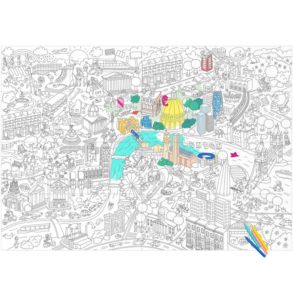 Giant London Colouring-in Poster Omy Toys and Hobbies Children