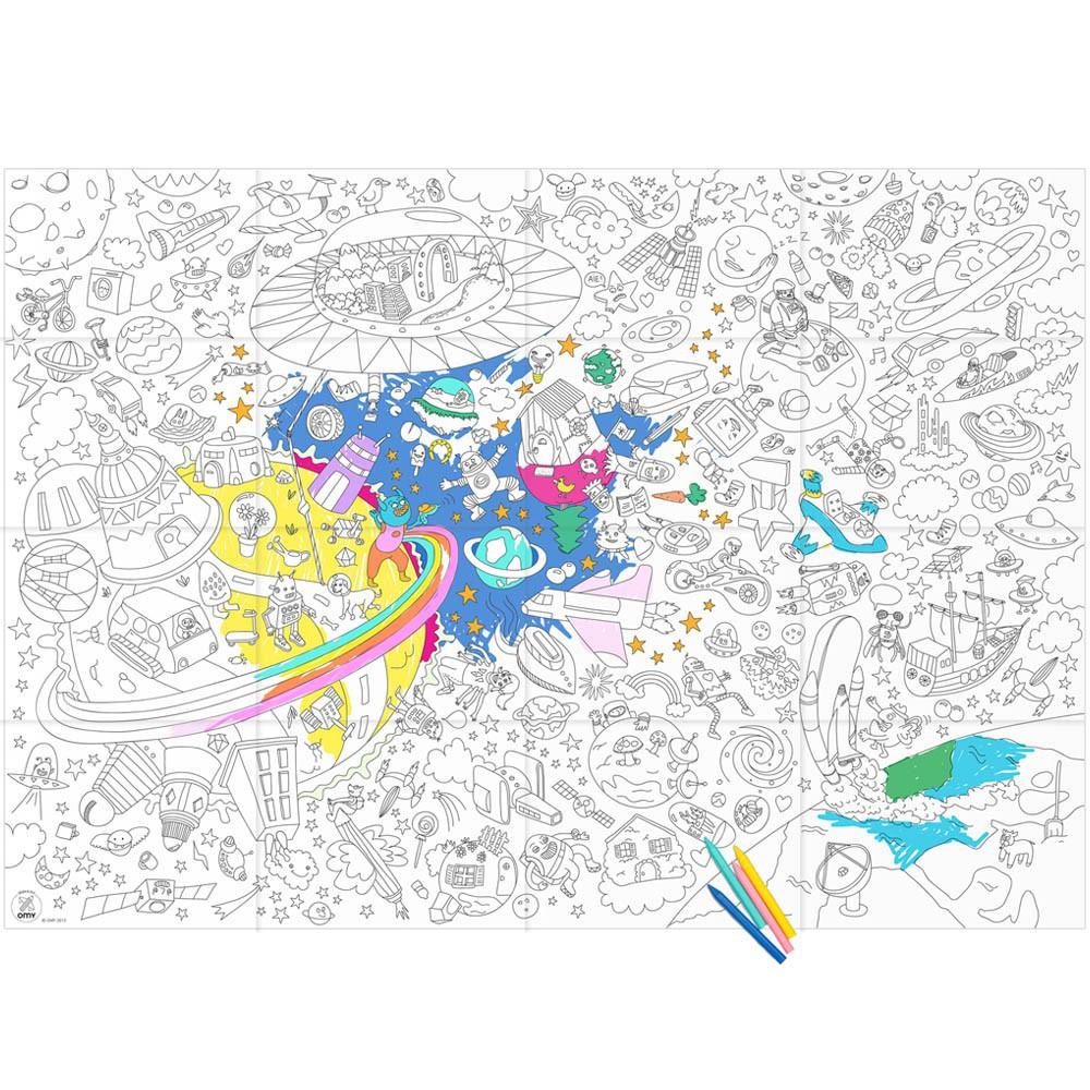 Giant Outer Space Colouring-in Poster Omy Toys and Hobbies