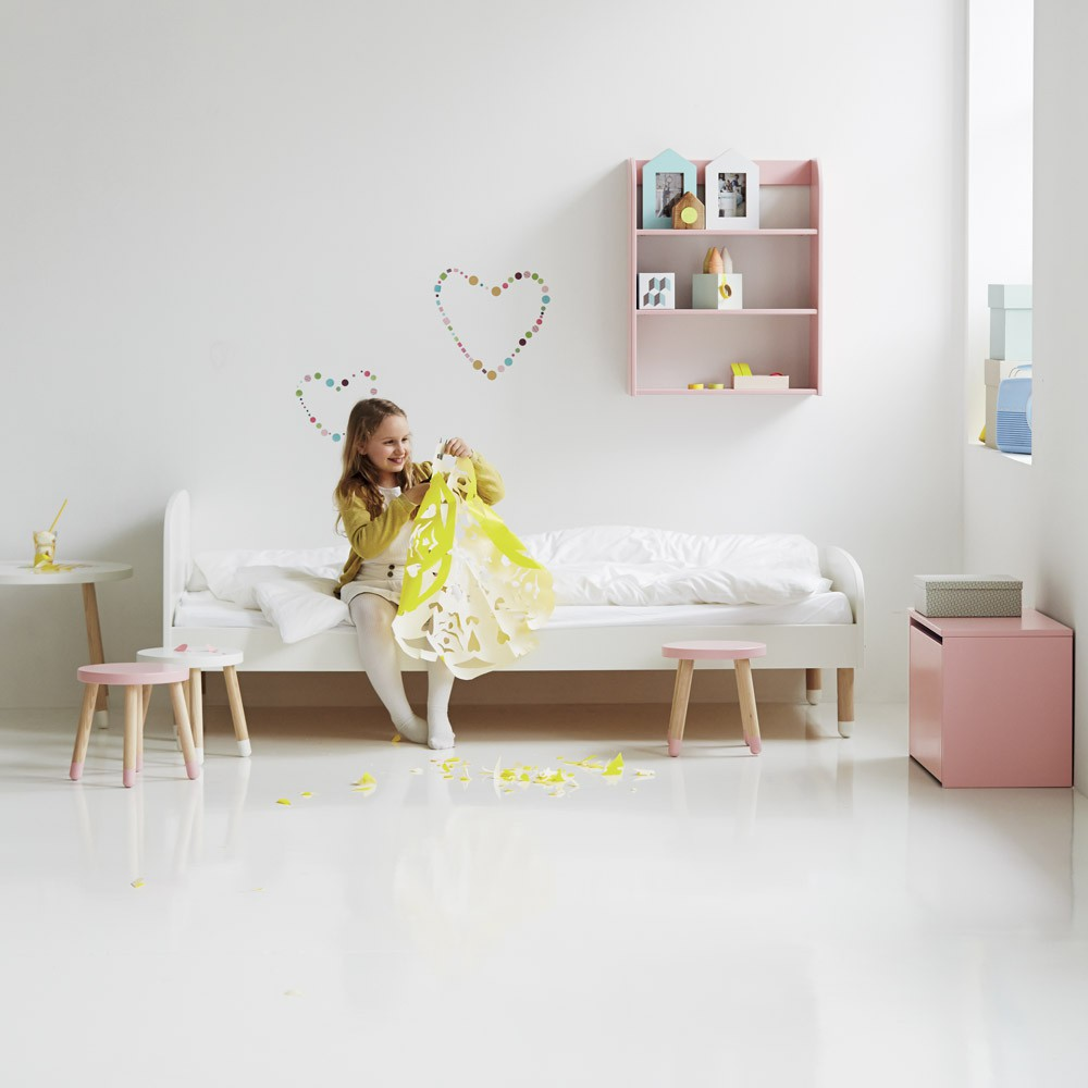 child bed 90x200 cm white flexa play design children. Black Bedroom Furniture Sets. Home Design Ideas
