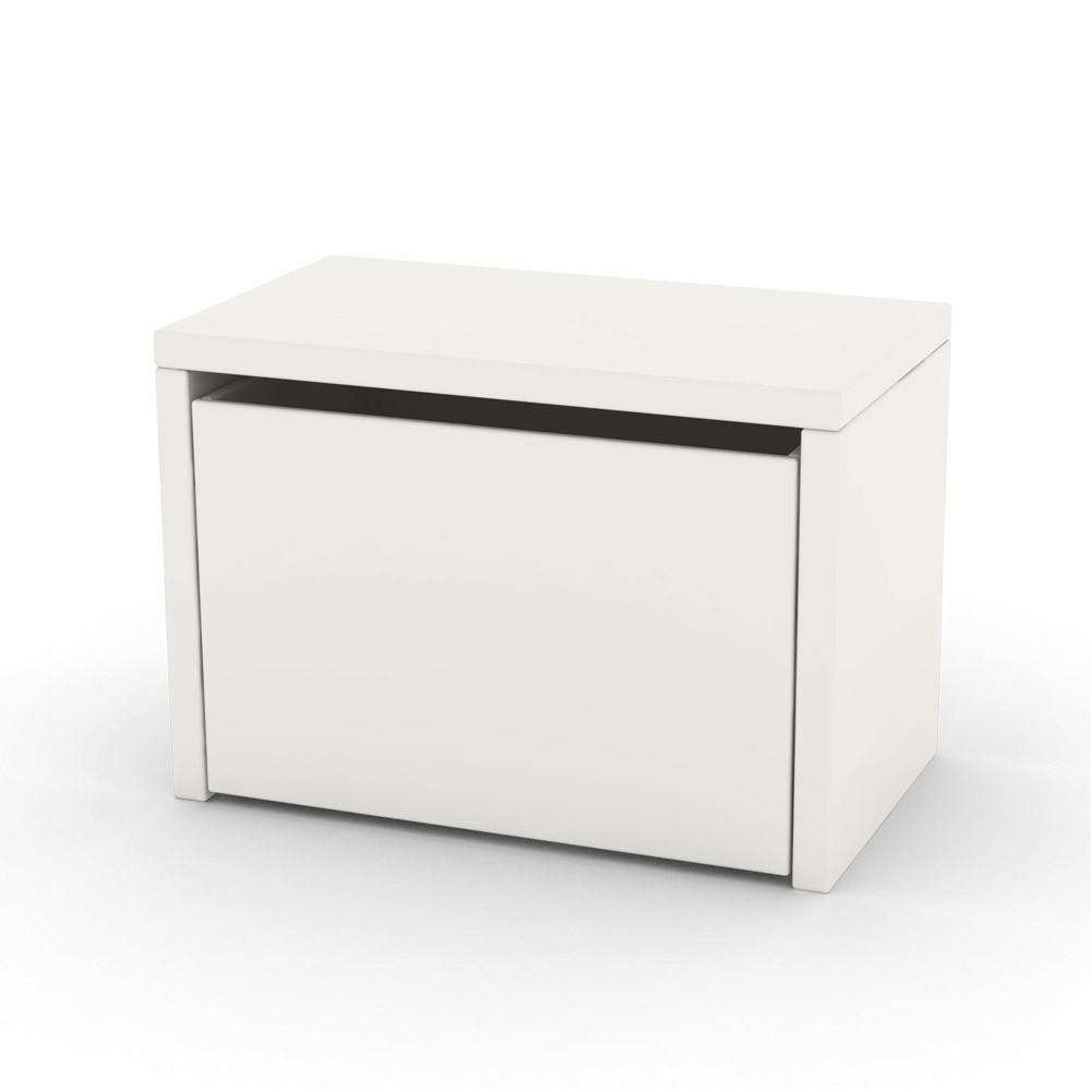 Table de chevet coffre de rangement blanc flexa play design for Table ikea avec rangement