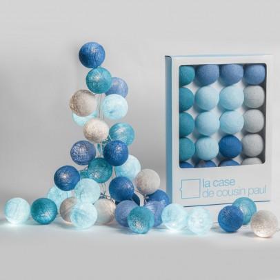 outdoor luminous garland 24 ma� ta� balls multicoloured la case
