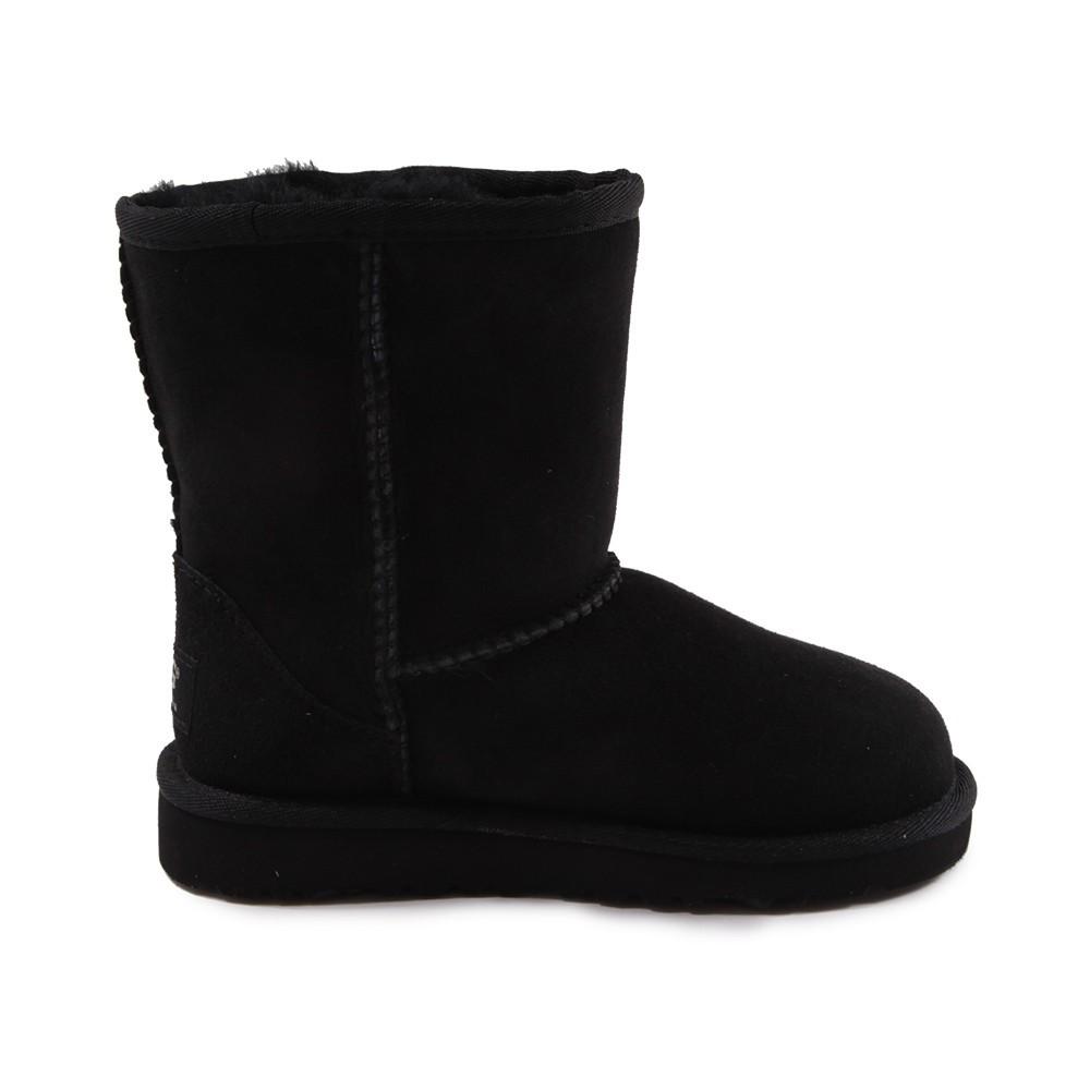 bottes fourr es classic short noir ugg chaussure adolescent. Black Bedroom Furniture Sets. Home Design Ideas
