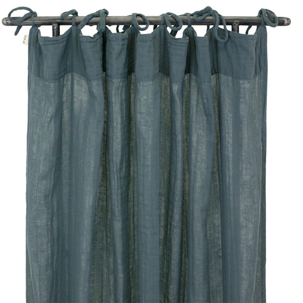rideau 100x290 cm bleu gris numero 74 design enfant. Black Bedroom Furniture Sets. Home Design Ideas