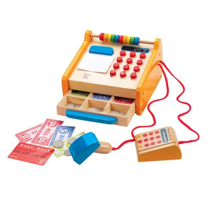 Hape Wooden Cash Register Multicoloured-listing