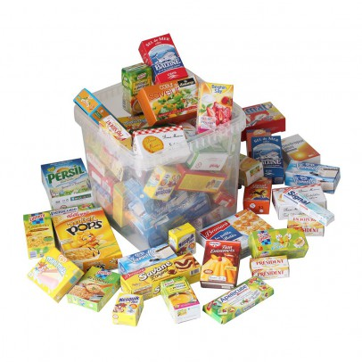 Polly Crate of food tins-listing