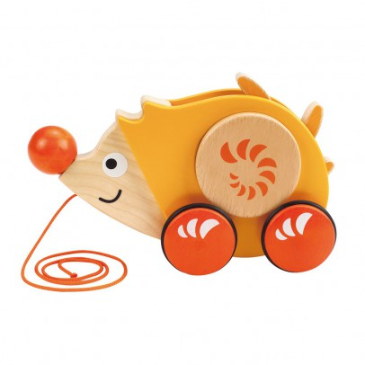Hape Hedgehog on a pull string-listing