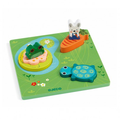 Djeco 1,2,3 Froggy 3D puzzle-listing