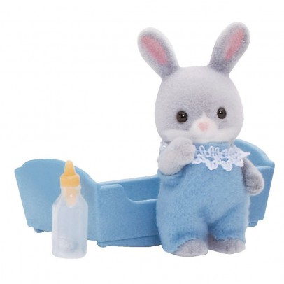 Sylvanian Grey Rabbit Baby - Boy-listing