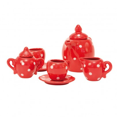 Moulin Roty Tea set in spotted case.-listing