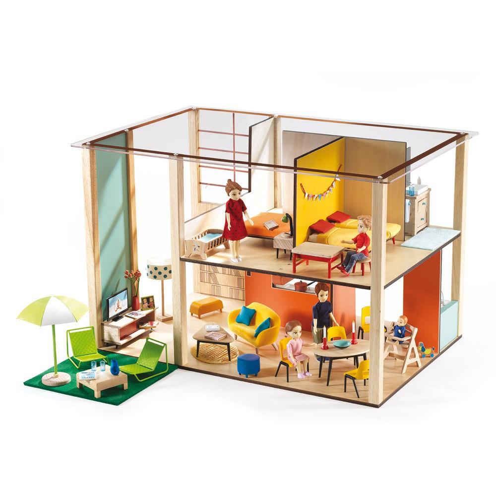 Maison de poup es cubic house djeco jouet et loisir enfant - Gran casa de munecas playmobil ...