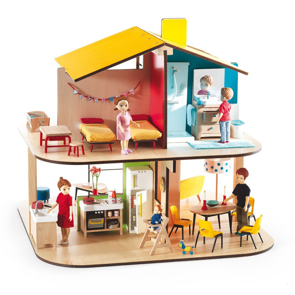 Maison de poup es color house djeco jouet et loisir enfant for Amorce maison pour gardon