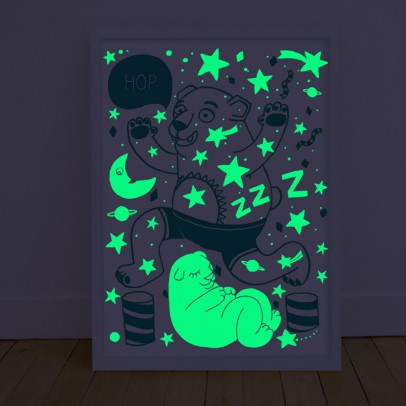 Omy Poster phosphorescent - Orso-listing