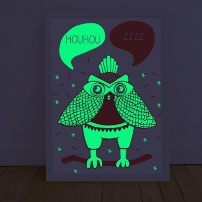 Omy Poster phosphorescent - Loula-listing