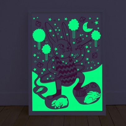 Omy Poster phosphorescent - Bunny-listing