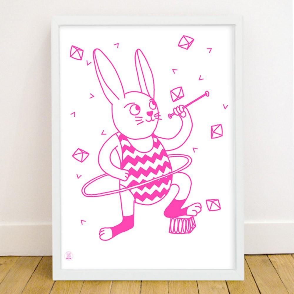 bunny glow in the dark poster omy design children