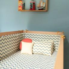 bettumrandung blau petroleumblau numero 74 design baby. Black Bedroom Furniture Sets. Home Design Ideas