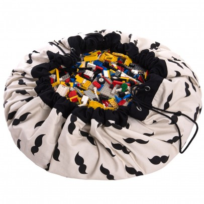 Play and Go Bag/Play mat - Moustaches-listing