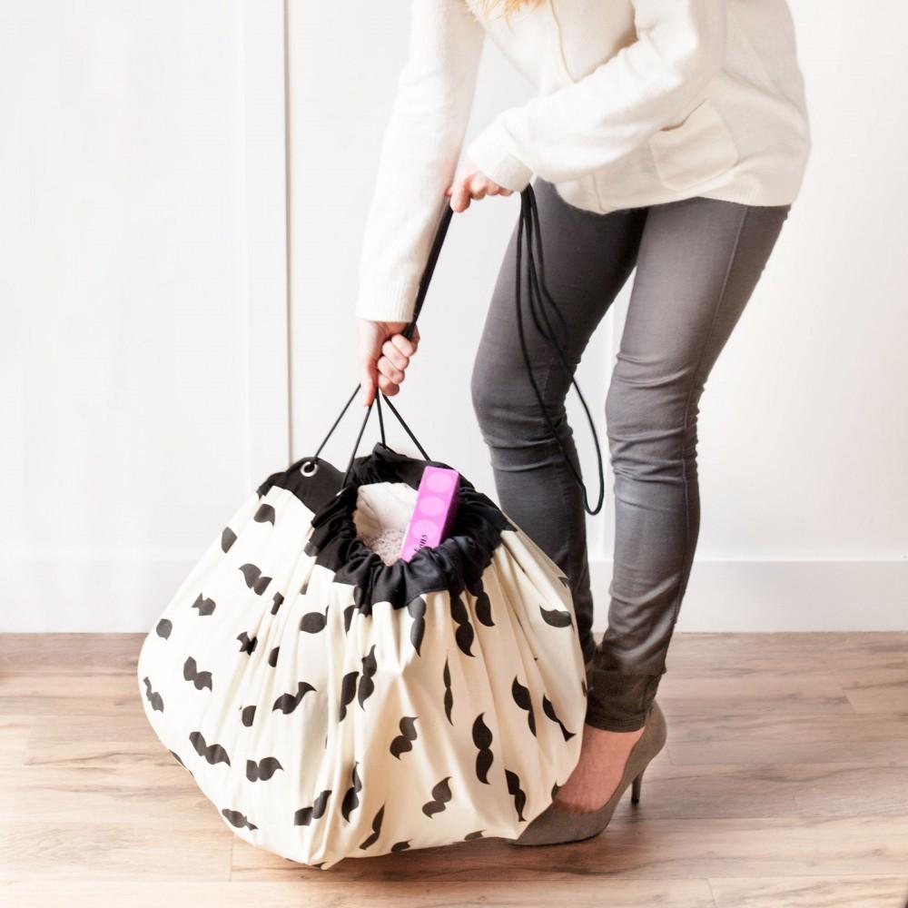 sac tapis de jeux moustaches noir play and go jouet et loisir. Black Bedroom Furniture Sets. Home Design Ideas