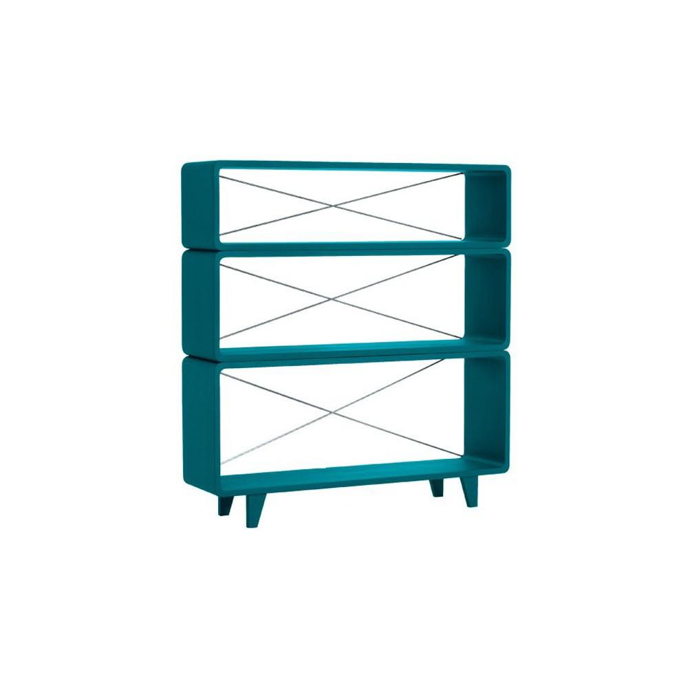biblioth que millefeuille bleu canard laurette design enfant. Black Bedroom Furniture Sets. Home Design Ideas