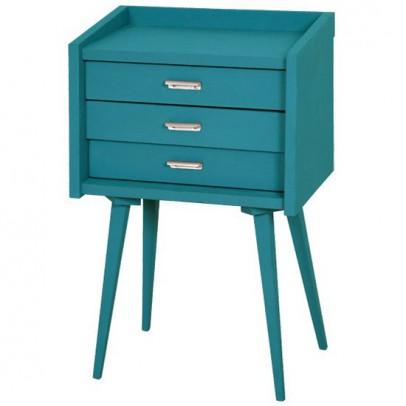 table de chevet des secrets gris souris laurette design. Black Bedroom Furniture Sets. Home Design Ideas