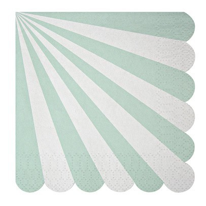 Meri Meri Toot Sweet Paper serviettes - green stripes set of 20-listing