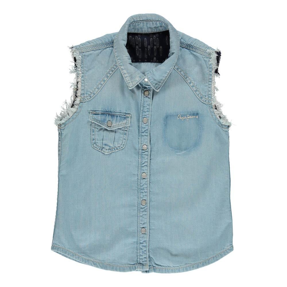 Camicetta Denim Hanna Denim Pepe jeans Moda Teenager  5aa67d119a4