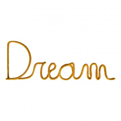 "Blossom Paris ""Dream"" Wall Decoration - Mustard Yellow-listing"