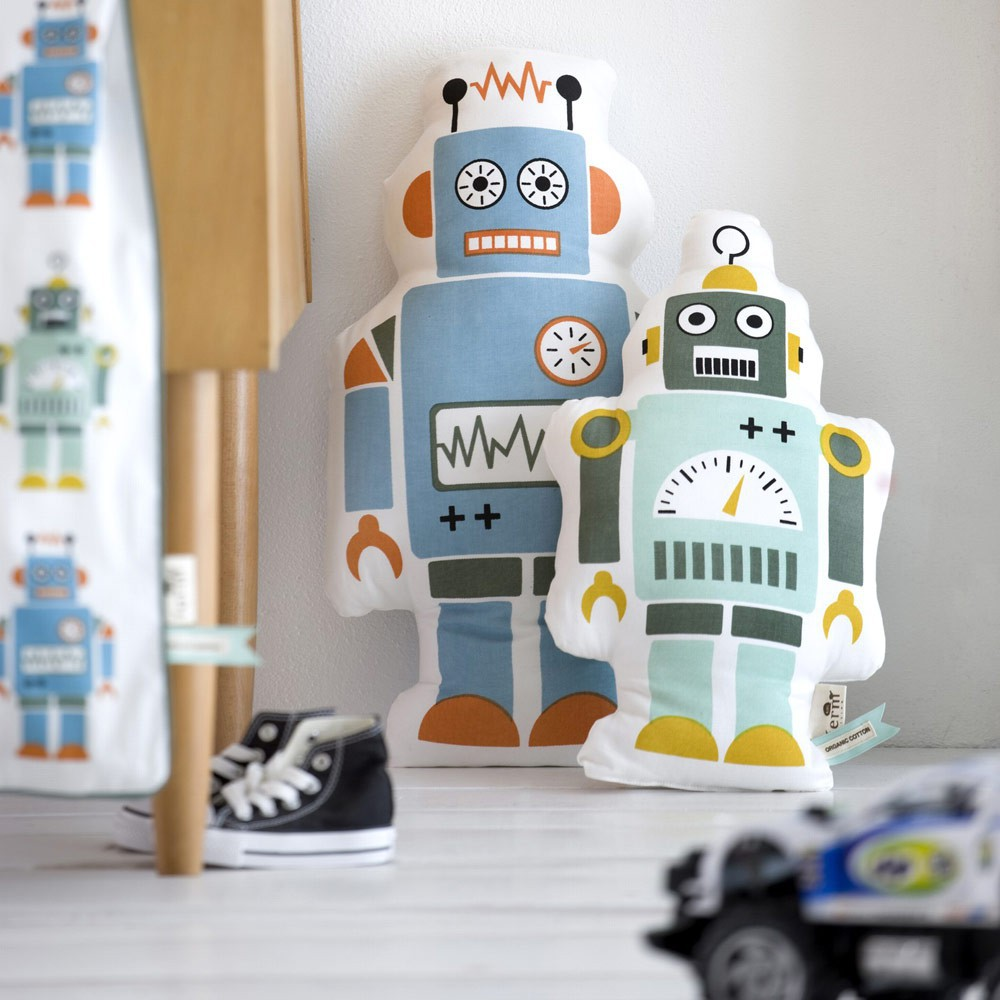 mr large robot cushion ferm living design children mr large robot cushion product