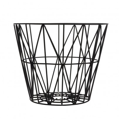Ferm Living Medium Wire Basket - Black-listing