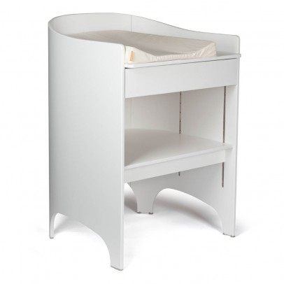 Commode langer en ch ne blanc oliver furniture design b b - Table a langer compacte ...
