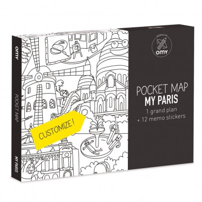 Omy Set of 3 pocket maps - Paris, London, Barcelona and New-York-listing