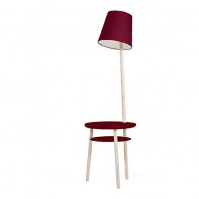 Hartô Josette lamp and table in one - burgundy-listing