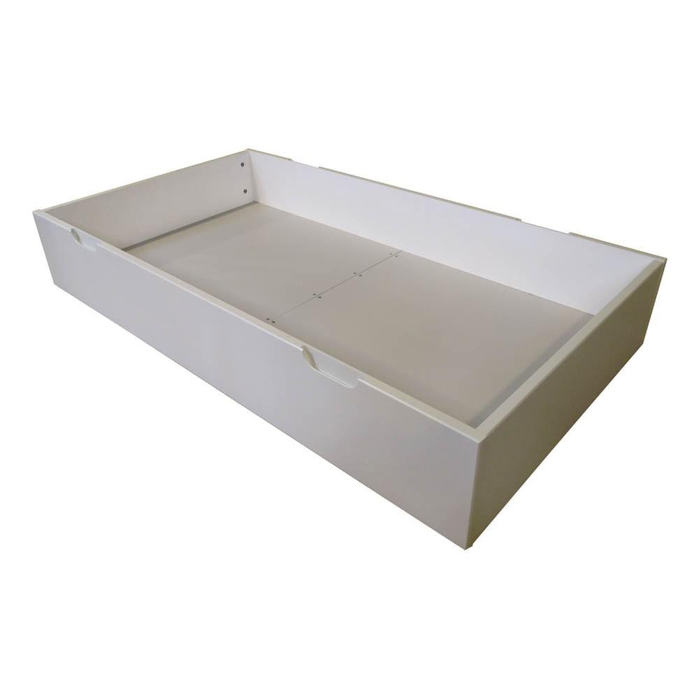 Lit tiroir joy volutif 70x140 cm blanc quax design enfant - Lit tiroir 140 ...