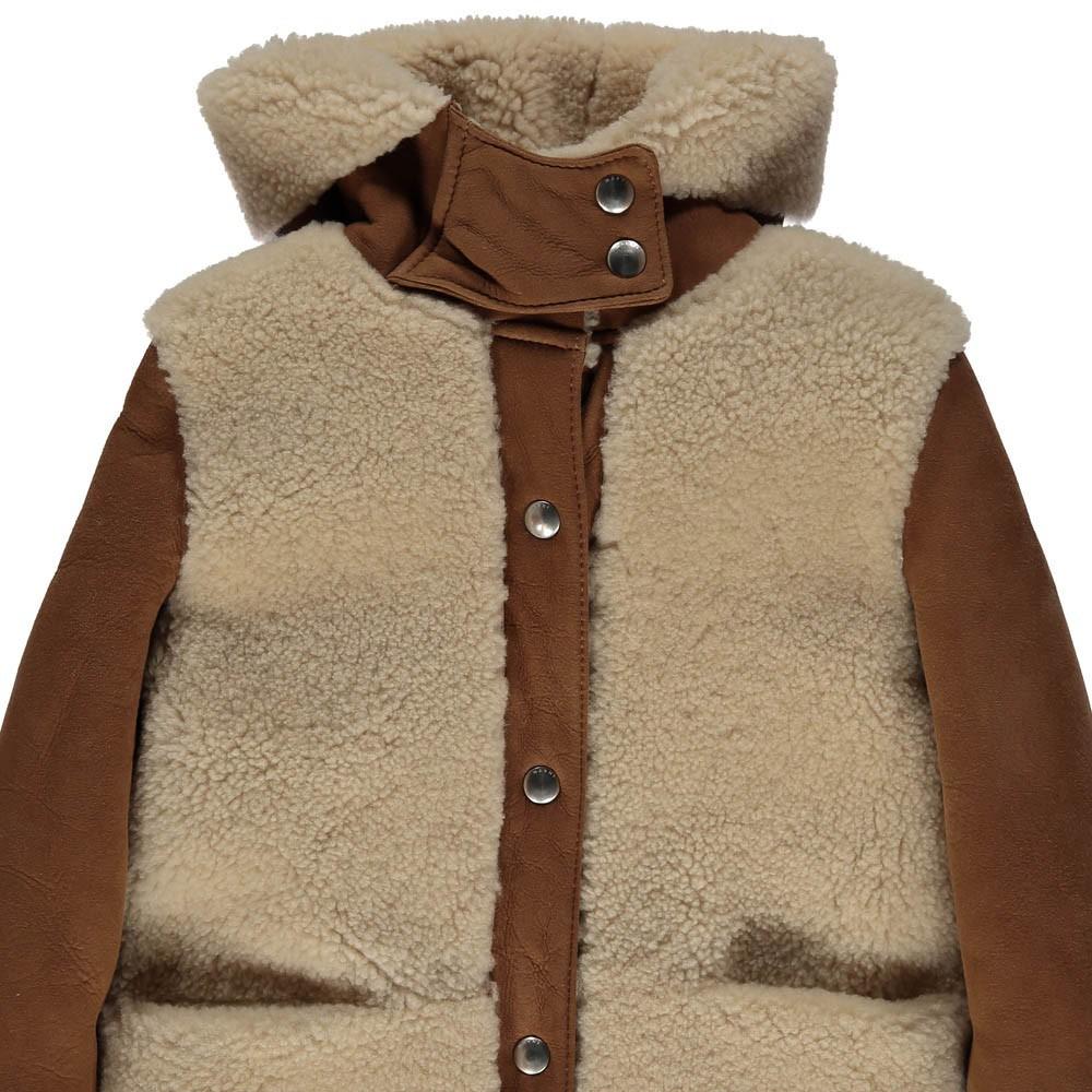 manteau peau retourn e beige marni mode adolescent enfant. Black Bedroom Furniture Sets. Home Design Ideas