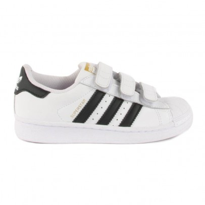 Adidas Superstar Foundation Black Velcro Trainers-listing