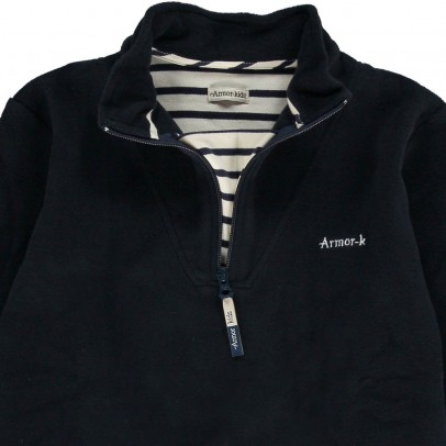 Armor Lux Tituoan Zip Collar Fleece Sweatshirt-listing