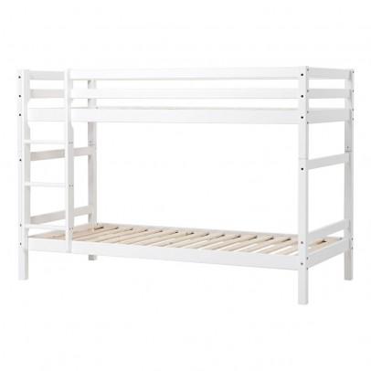 lit mezzanine bas basic avec chelle et toboggan 90x200 cm blanc. Black Bedroom Furniture Sets. Home Design Ideas