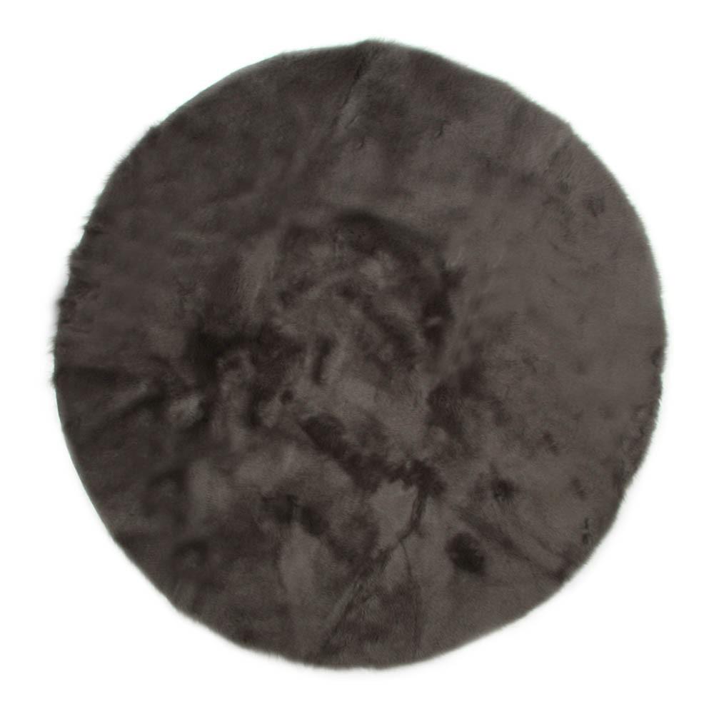 Tappeto rotondo grigio scuro grigio scuro pilepoil design - Tappeto rotondo ikea ...