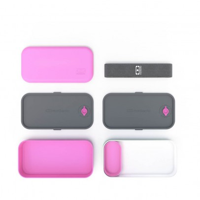 Monbento Pink & White 2-compartment Bento Box-listing