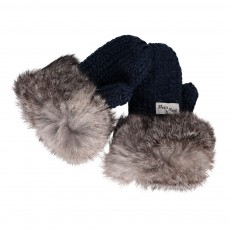 product-Petit Nord Fur Pompom Wool Mittens