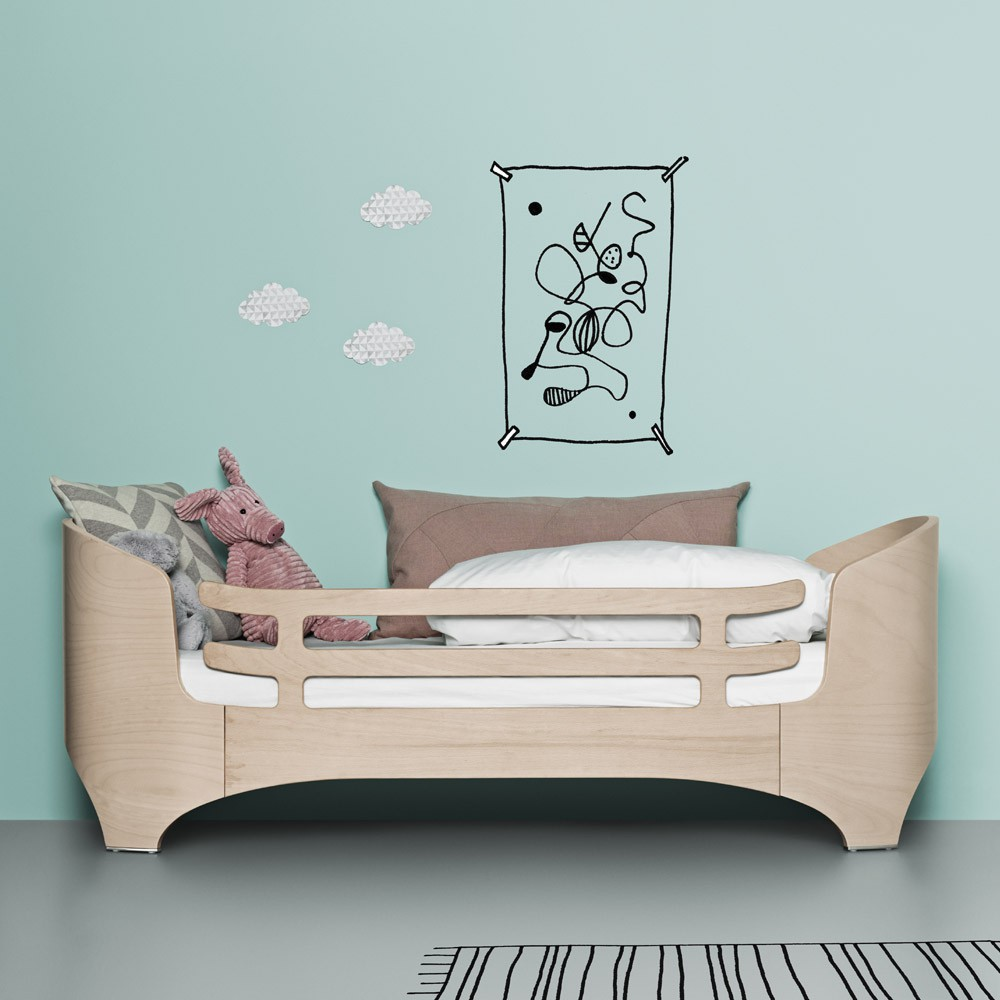 Barri re de s curit lit junior beige c rus leander design - Barriere de lit but ...