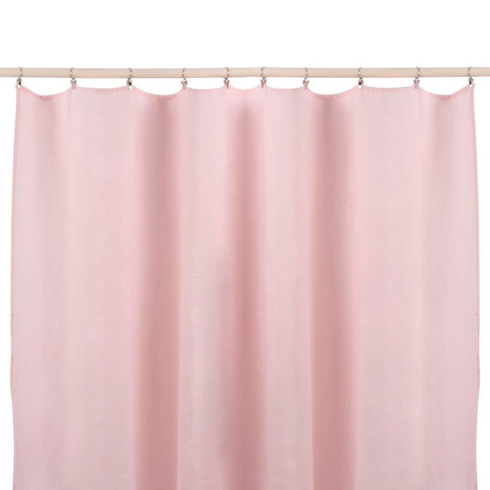 cortinas en lino lavadas sin